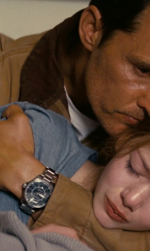 Matthew McConaughey with Hamilton Pilot Day Date Watch in Interstellar