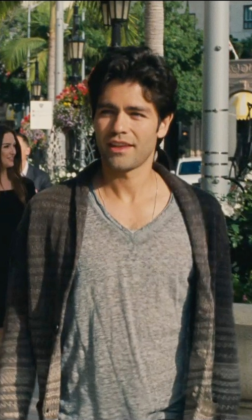 Adrian Grenier with John Varvatos Dip Dyed Sweater Cardigan in Entourage