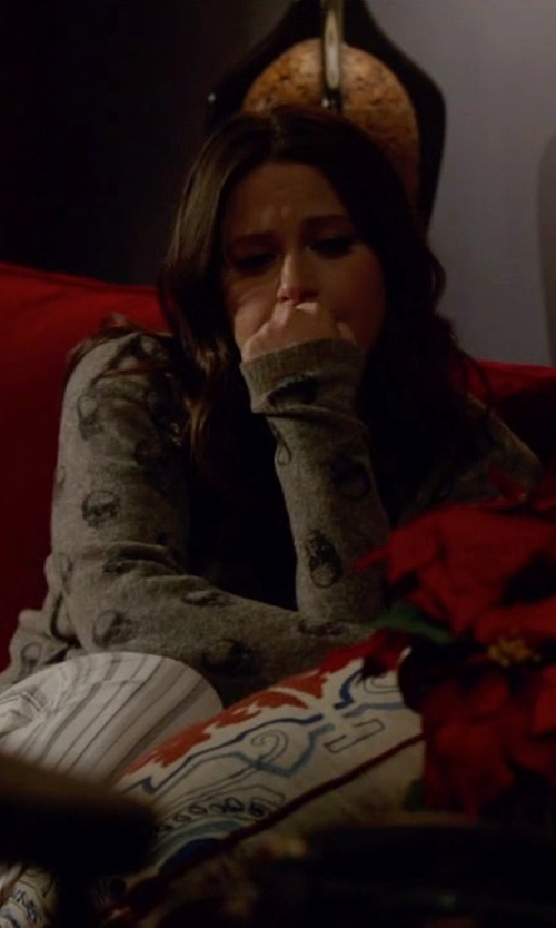 Katie Lowes with 360 Sweater Ravin Cardigan in Scandal