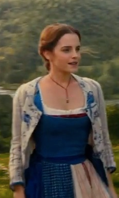 Emma Watson with Frasier Sterling Ranger Necklace in Beauty and the Beast