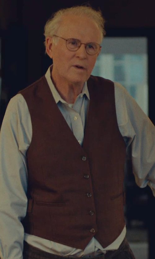 Charles Grodin with Brooks Brothers Brushed Cotton Vest in While We're Young
