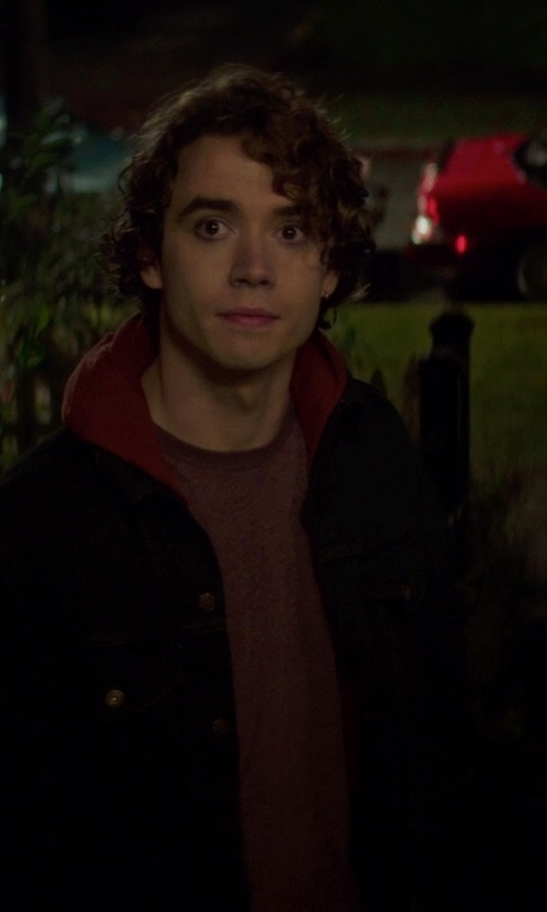 Jamie Blackley with Roberto Cavalli Printed T-Shirt in If I Stay