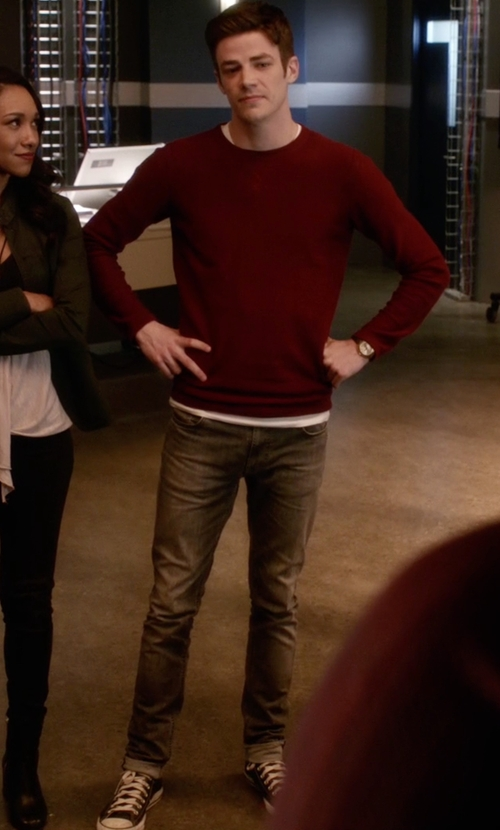 Grant Gustin with Converse Chuck Taylor All Star Hi Top Sneakers in The Flash