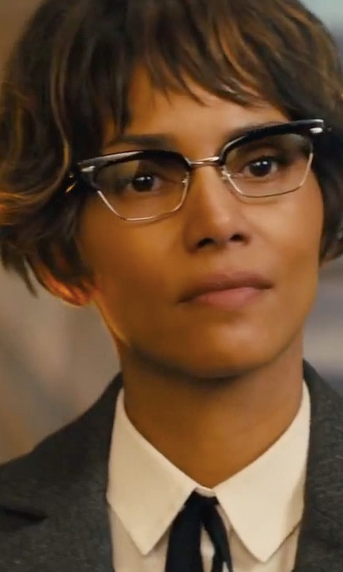 Halle Berry with Cutler and Gross Cat-Eye Frame Acetate Glasses in Kingsman: The Golden Circle