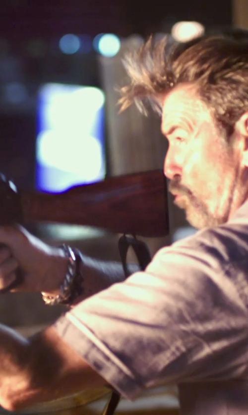 Pierce Brosnan with Bison Designs Paracord Bracelet in No Escape