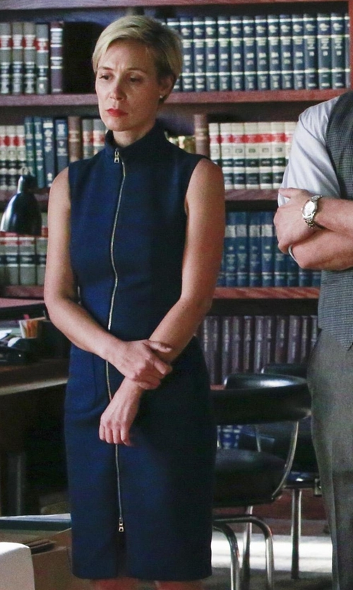 Liza Weil with L'Agence Twill Dress in How To Get Away With Murder