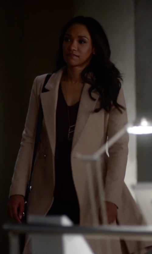 Candice Patton with MSGM Single Breasted Coat in The Flash