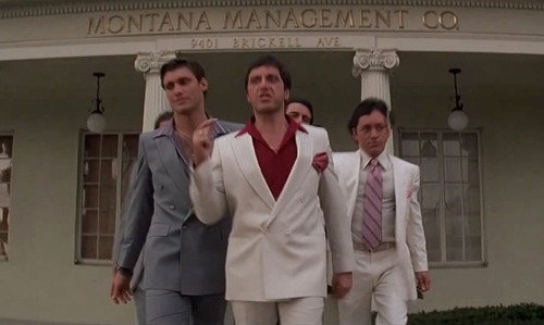 Al Pacino with Montgomery Management Co. (Depicted as Montana Management Co.) West Hollywood, California in Scarface
