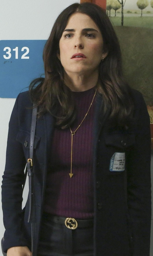 Karla Souza with Gucci Interlocking G Leather Belt in How To Get Away With Murder