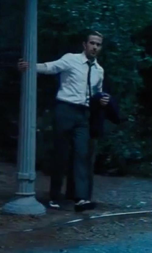 Ryan Gosling with Stacy Adams Madison Cap Toe Oxford Shoes in La La Land