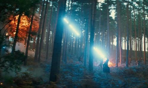 Jaimie Alexander with Bourne Wood Surrey, England in Thor: The Dark World