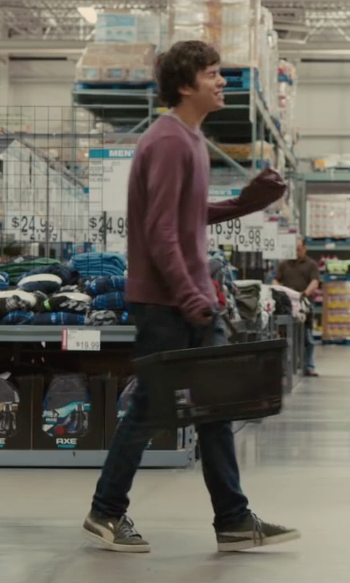 Nat Wolff with Puma Men's Classic Suede Sneakers in Paper Towns
