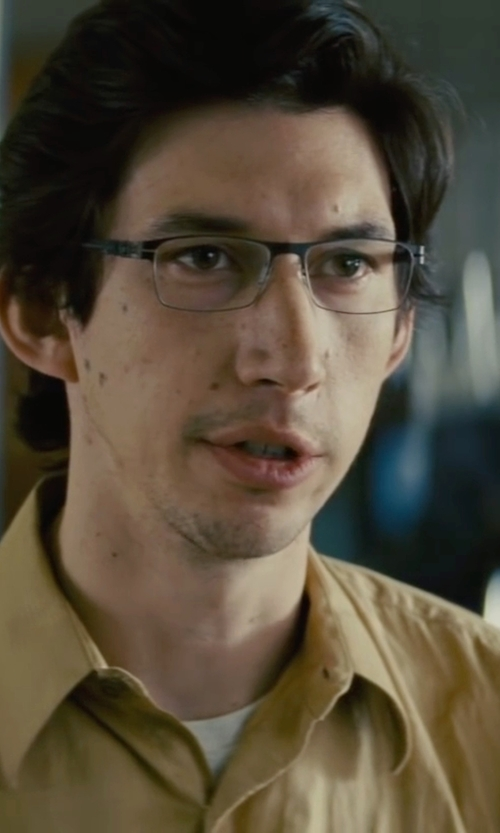 Adam Driver with Gitman Vintage Solid Button Down Sportshirt in Midnight Special