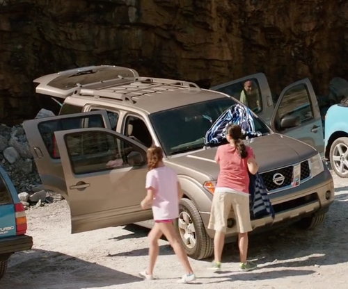 Unknown Actor with Nissan Armada SUV in Vacation