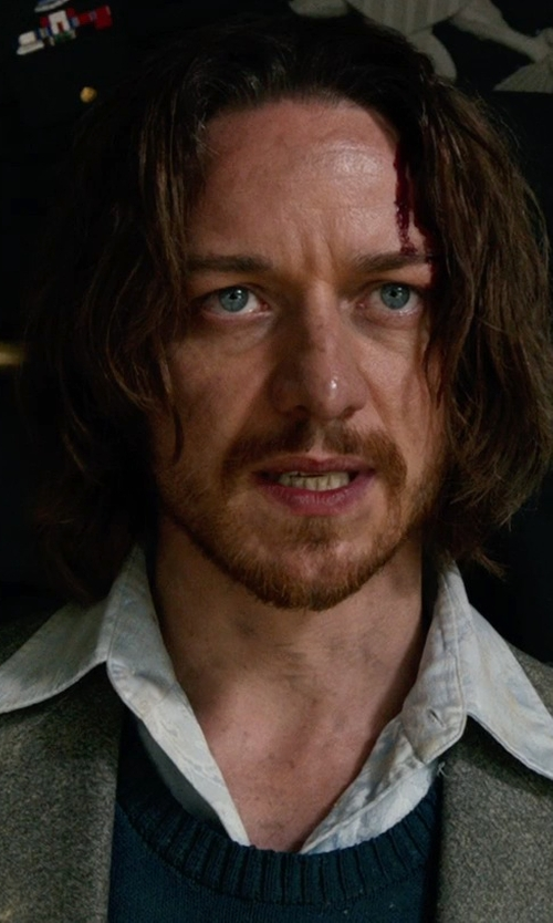 James McAvoy with Riviera Red Panther Twill Sport Coat - Wool Blend, Modern Fit in X-Men: Days of Future Past