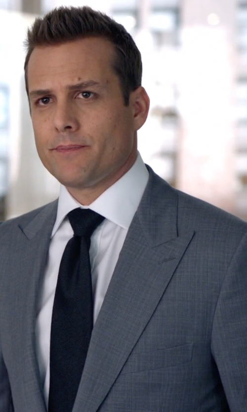 Gabriel Macht with David Donahue Woven Silk Tie in Suits
