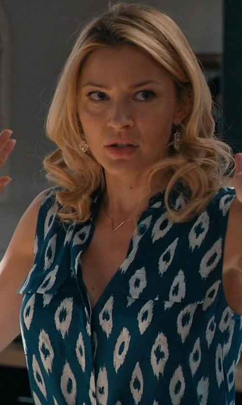 Tabrett Bethell with Equipment Tegan Ikat Print Silk Shirtdress in Mistresses