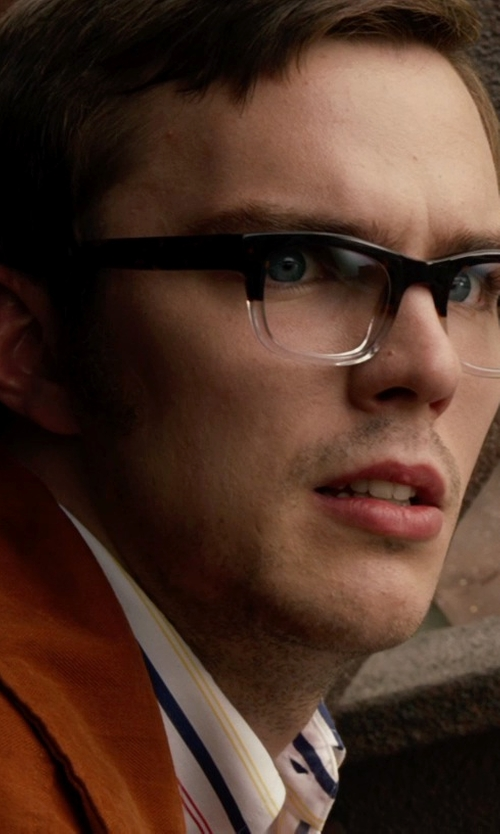 Nicholas Hoult with Warby Parker Winston Eyeglasses in Lunar Fade in X-Men: Days of Future Past
