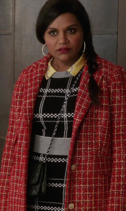 Mindy Kaling with Chanel Shoulder Bag in The Mindy Project