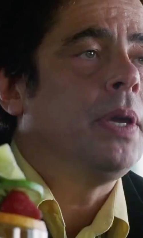 Benicio Del Toro with Polo Ralph Lauren Regent Mens Dress Shirt in Inherent Vice