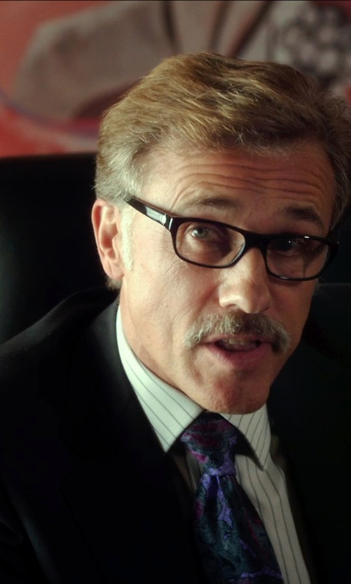 Christoph Waltz with Ralph Lauren Olive Windowpane Sport Coat in Horrible Bosses 2