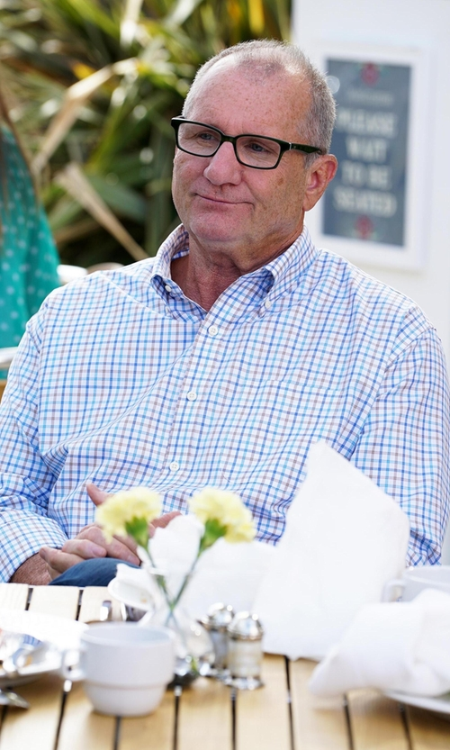 Ed O'Neill with Peter Millar  'Gabby Tattersall' Regular Fit  Performance Sport Shirt in Modern Family
