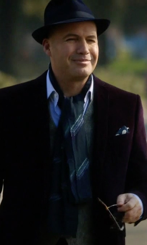 Billy Zane with Lanvin College Scarf in Guilt