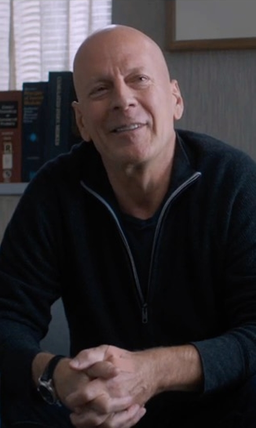 Bruce Willis with Tommy Hilfiger Leather Strap  Dress Watch in Death Wish
