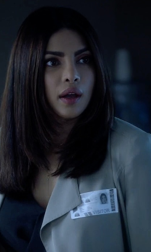 Priyanka Chopra with Babaton  Quincey Jacket in Quantico