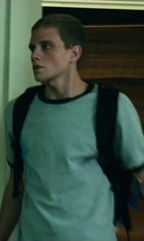 Jonny Weston with Champion Tagless Ringer T-Shirt in Project Almanac