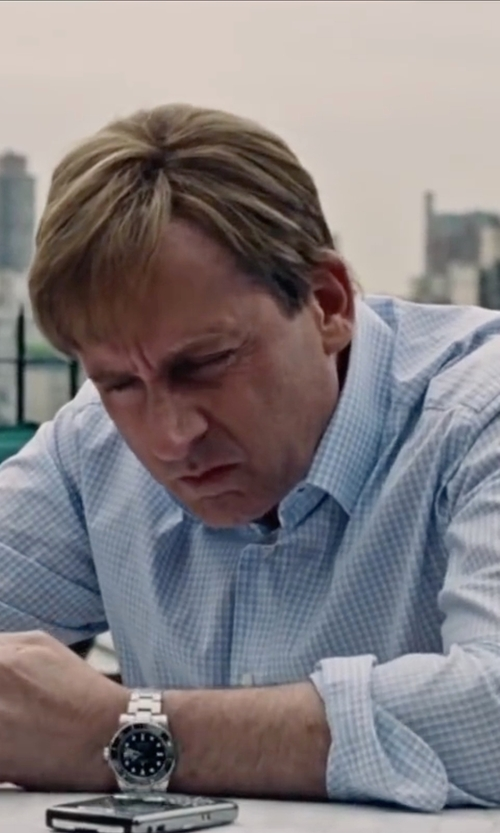 Steve Carell with Rolex Stainless Steel Submariner Watch in The Big Short