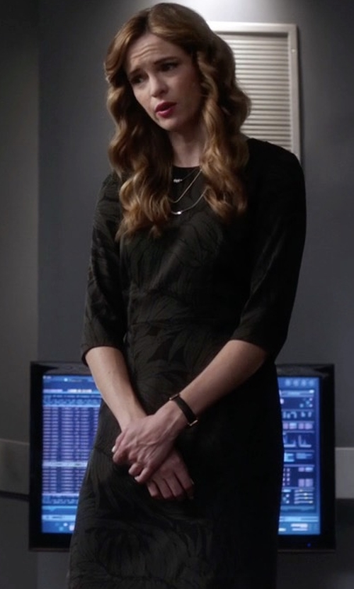 Danielle Panabaker with Club Monaco Emmala Dress in The Flash