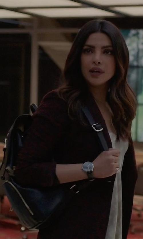 Priyanka Chopra with Michael Michael Kors Cooper Large Flap Backpack in Quantico