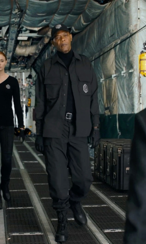 Samuel L. Jackson with A.P.C. Leather Belt in Barely Lethal