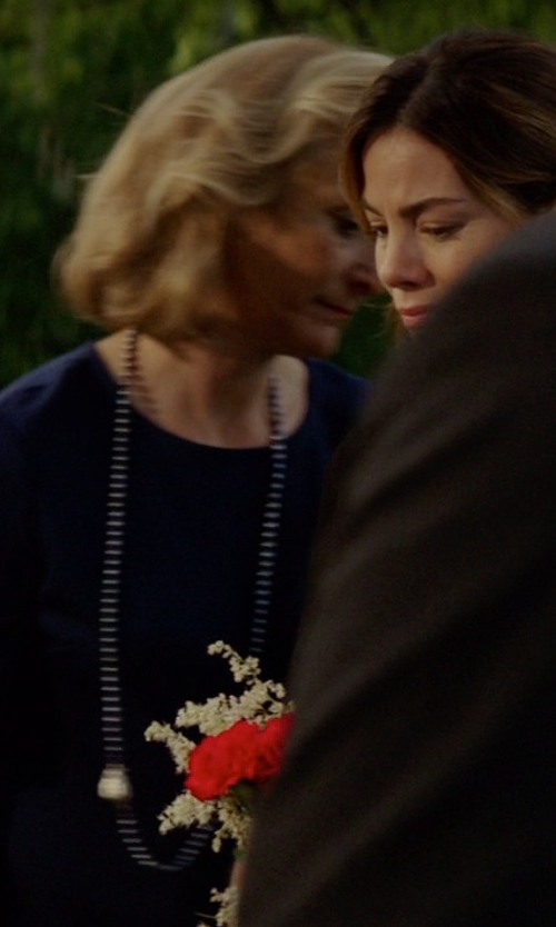 Caroline Goodall with Kenneth Jay Lane Gradient Fireball Long Necklace in The Best of Me