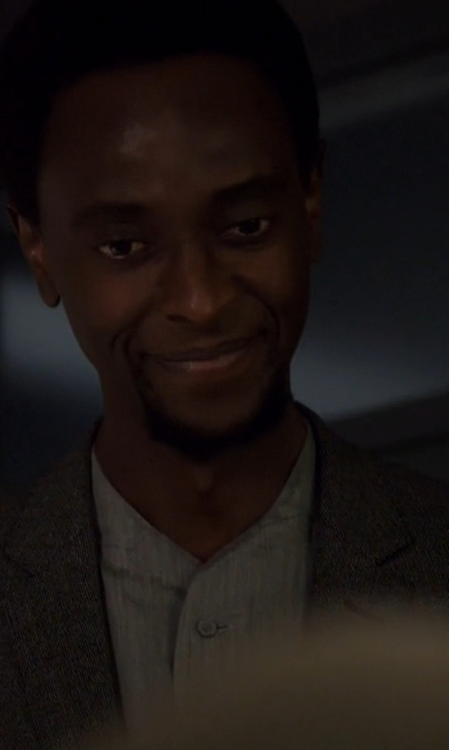 Edi Gathegi with Commune De Paris 1871 Mandarin Collar Shirt in The Blacklist