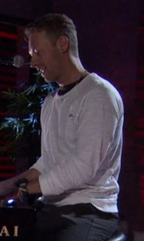 Chris Martin with Vince Crew Neck Sweater in Chelsea