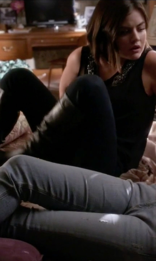 Lucy Hale with Wild Pair Women's Quebec Chelsea Boot in Pretty Little Liars