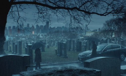 Keanu Reeves with Calvary Cemetery New York City, New York in John Wick