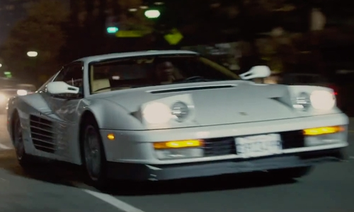 Corey Hawkins with Ferrari 1991 Testarossa Coupe in Straight Outta Compton