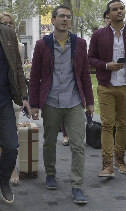 Tate Ellington with Timberland Men's Ek Brook Park Chukka Boots in Quantico