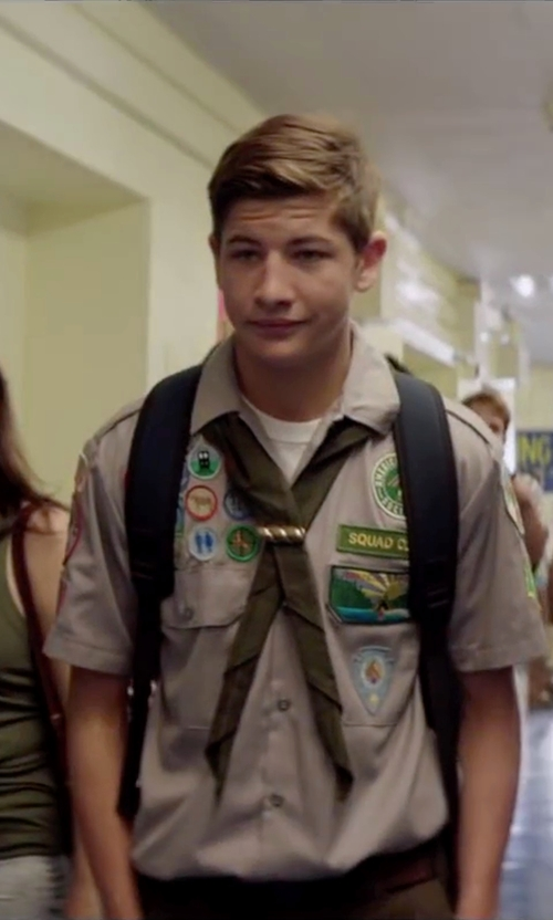 Tye Sheridan with Victorinox Swiss Army 'Altmont' Backpack in Scout's Guide to the Zombie Apocalypse