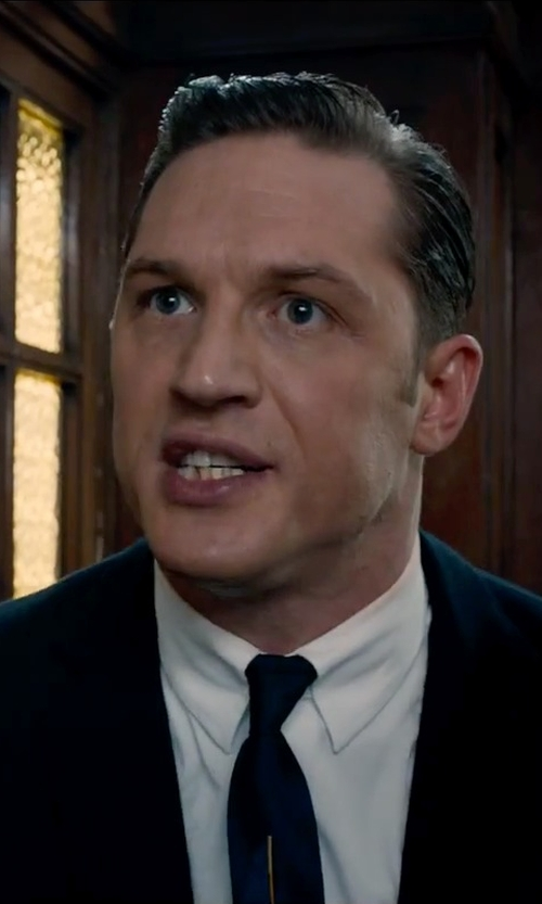 Tom Hardy with Gucci Silk-Satin Tie in Legend