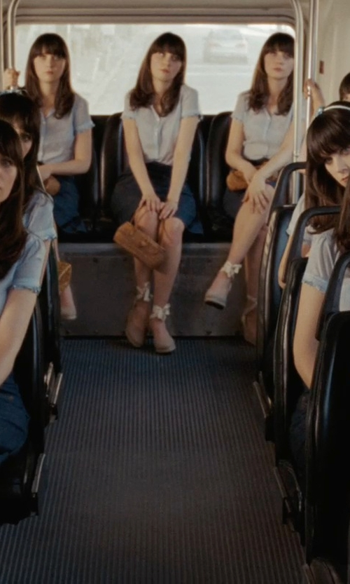 Zooey Deschanel with Fergalicious Disobey Wedge Pump Shoes in (500) Days of Summer