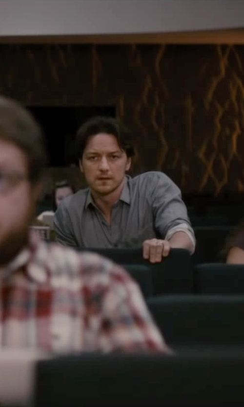 James McAvoy with Rag & Bone Button Down Oxford Shirt in The Disappearance of Eleanor Rigby