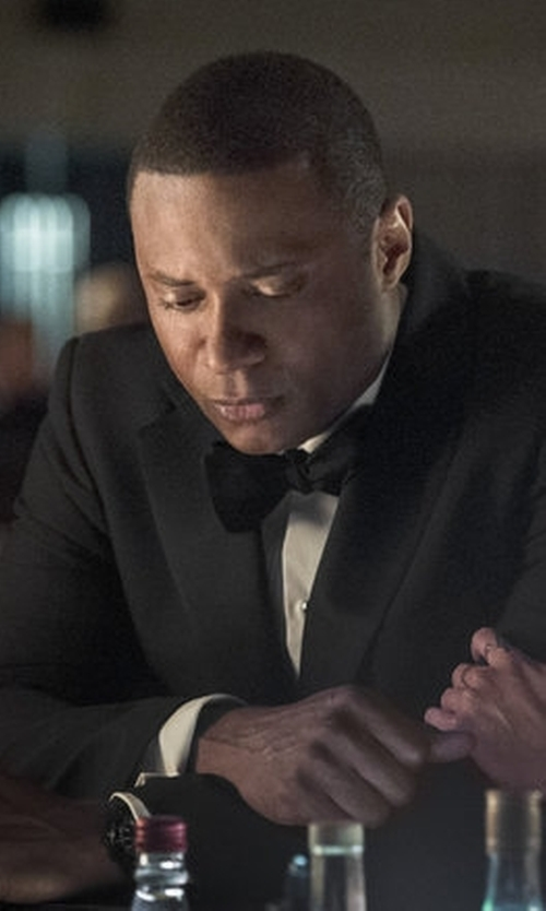 David Ramsey with BOSS 'Johnstons/Lennon' Trim Fit Wool Suit in Arrow