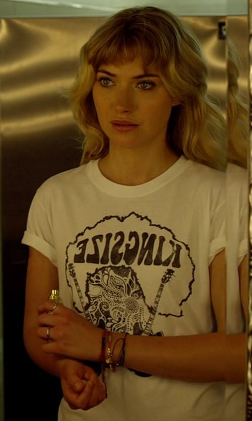 Imogen Poots with Kingsize Custom Made Psychedelic Kingsize Shirt (Julia Maddon) in Need for Speed