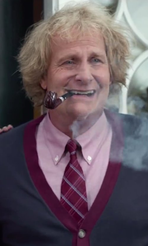 Jeff Daniels with Ryan Seacrest Distinction Speaker Plaid Slim Tie in Dumb and Dumber To