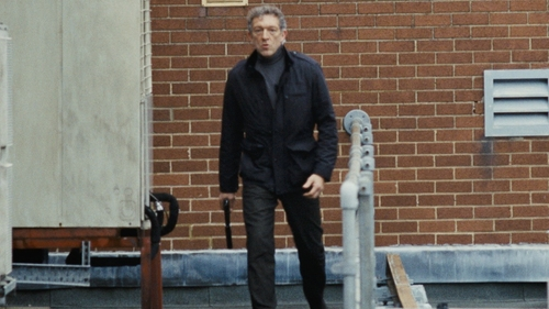 Vincent Cassel with Acne Studios Men's  'Max' Slim Straight Leg Jeans in Jason Bourne