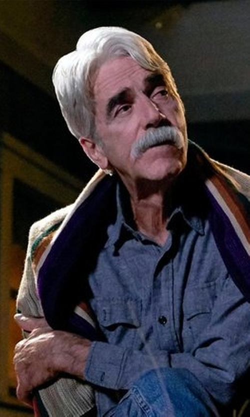 Sam Elliott with Stetson Indigo Chambray Shirt in The Ranch